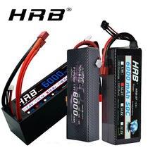 HRB 2S 3S RC Lipo батарея 7,4 V 11,1 V 14,8 V 6000mah 60C Max 1200C жесткий чехол батарея для Traxxas 1/10 1/12 RC автомобили грузовик монстры