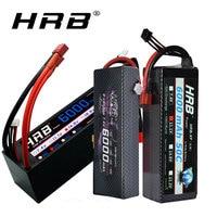 HRB 2S 3S RC Lipo Batterie 7,4 V 11,1 V 14,8 V 6000mah 60C Max 120C Hard fall Batterie für Traxxas 1/10 1/12 RC Autos Lkw Monsters