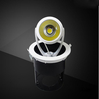 5pcs/lot COB LED Gimble Lamp 15W 20W 30W Natural White Trunk Stretchable AC85 265V Gimbal Embedded Spot Light Downlights