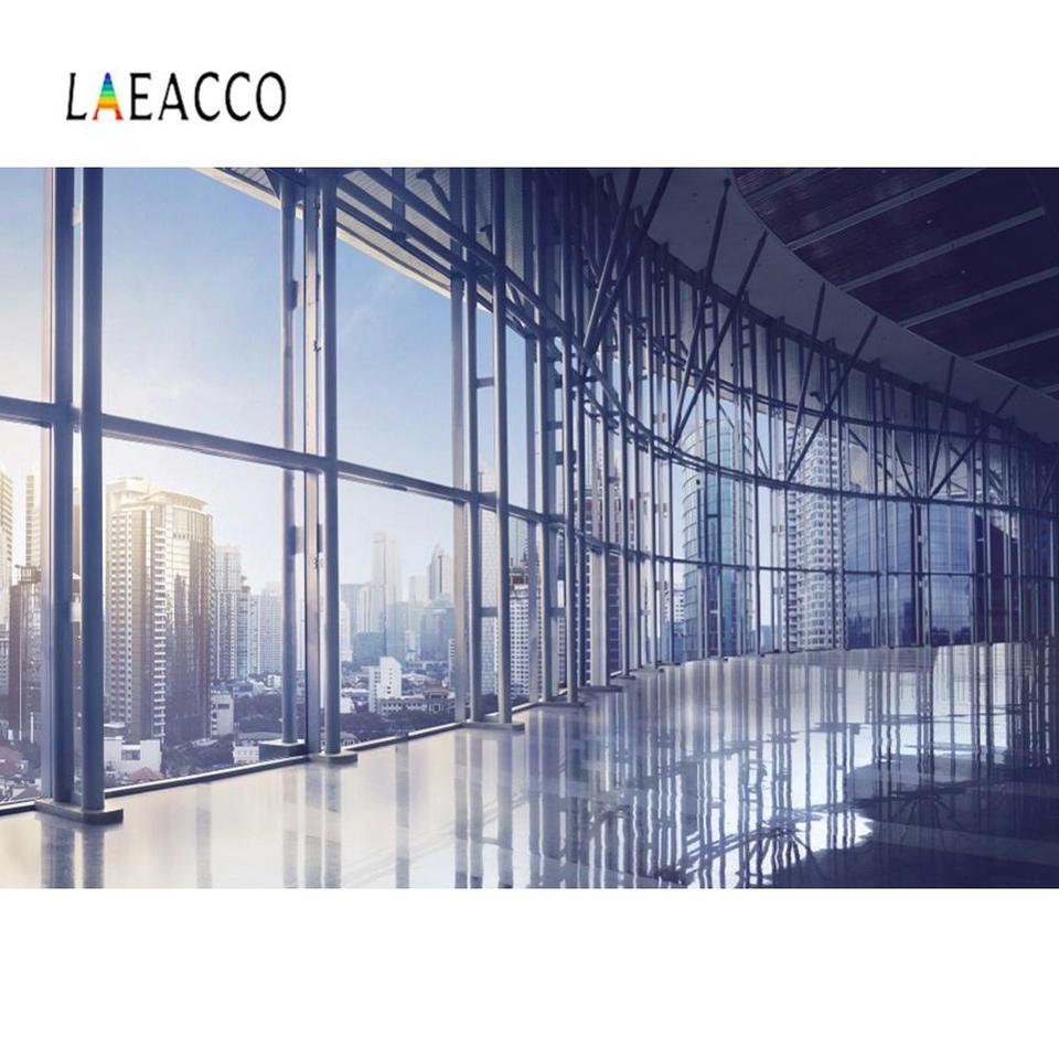 Laeacco Modern Office Room Window Sunlight City Scenic Interior Photography Background Photo Backdrop For Photo Studio Photocall Background Aliexpress