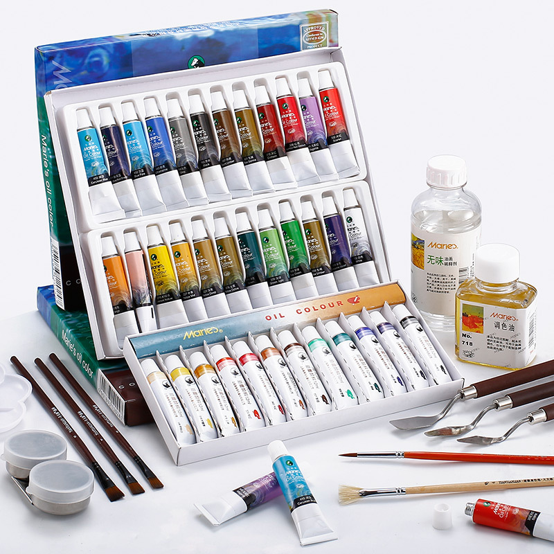 Paint Oil Painting For Artists 12/18/24 Colors 12 Ml Aluminum Tube Drawing Painting Hand Painted School Stationery Art Supplies