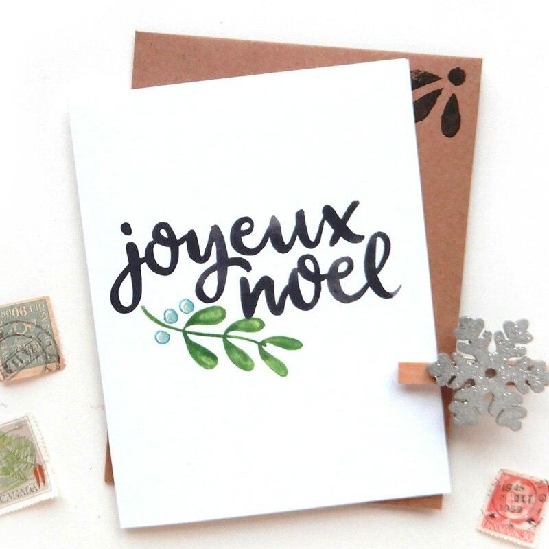 WYSE – matrices de découpe en métal, Joyeux noël, mot français, Scrapbooking, lettre, Bonne sortie, découpe pour bricolage, artisanat de cartes en papier