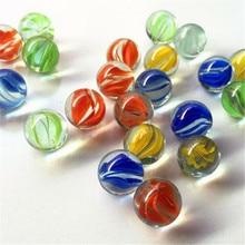 10/20 pçs 14mm colorido vidro mármores crianças mármore executar jogo de mármore solitaire brinquedo accs vaso filler & fish tank decoração para casa canicas