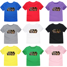 New Arrival Summer Kids T-shirt Star Wars Tshirt For Children Short Sleeve Print Casual Boys Girls Tees Cotton O-neck Tops