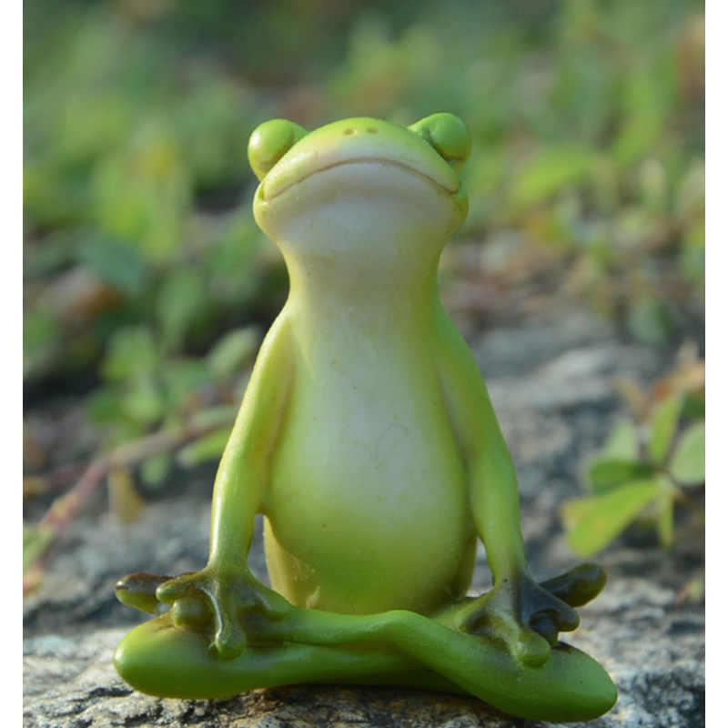 Cute Frog Statue Figurine Home Office Desk Ornament Garden Bonsai Decor Gift US