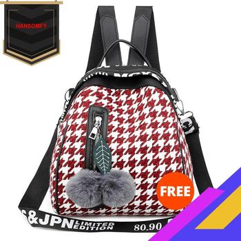 Hot Selling Students WOMENS Backpack 2020 New Style Package Color Plaid Oxford Cloth Bags Lightweight Mini women