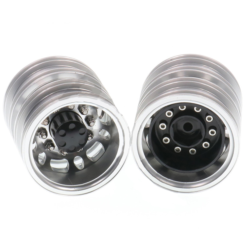Metal Front Wheel Hub Axle Bearing Brake for 1/14 <font><b>TAMIYA</b></font> LESU <font><b>RC</b></font> Car <font><b>Dump</b></font> <font><b>Truck</b></font> Tractor Spare Parts image