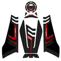sticker motorcycle Motorcycle 3D carbon fiber Sticker Decal Emblem Protection Tank Pad Cas Cap for CBR650R CBR 650R 2019 (5)