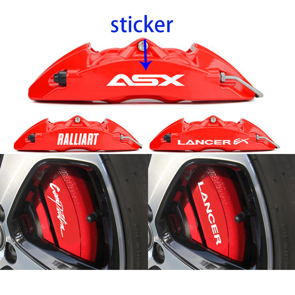 4pcs For Mitsubishi Lancer EX Outlander 3 ASX L200 Ralliart Competition HI-TEMP PREMIUM BRAKE CALIPER DECALS STICKERS CAST VINYL