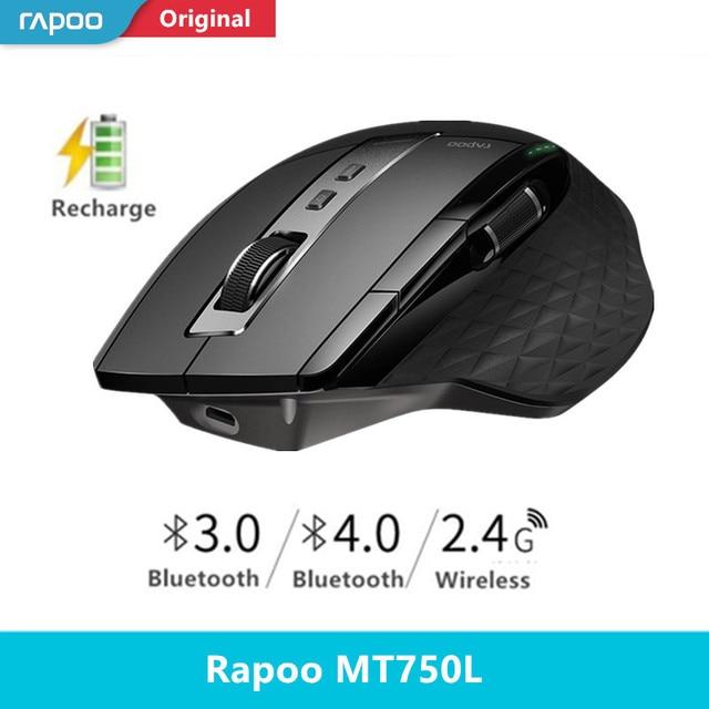 Interruptor sem fio bluetooth 3.0/4.0 e 2.4g do rato do multi modo de rapoo para o rato do jogo do computador da conexão de quatro dispositivos