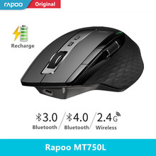 Rapoo Multi mode Wireless Mouse Bluetooth 3.0/4.0 And 2.4G Switch For Four Devices Connection Computer Gaming Mouse
