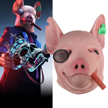 Watch Dogs 3 Legion Mask Cosplay Legion Winston Pig Head Animal Latex Masks Helmet Halloween Carnival Party Costume Props Buy At The Price Of 8 99 In Aliexpress Com Imall Com