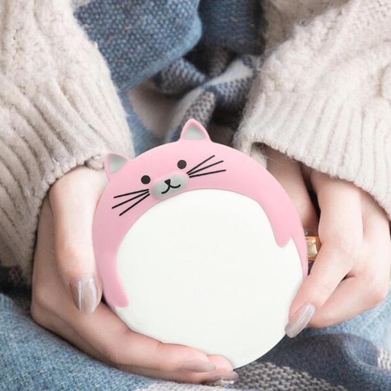Portable Hand Warmer Cartoon Cat Winter Body Handy Warmer  Intelligent Heater 5200mAh USB Rechargeable Power Bank Dropshipping