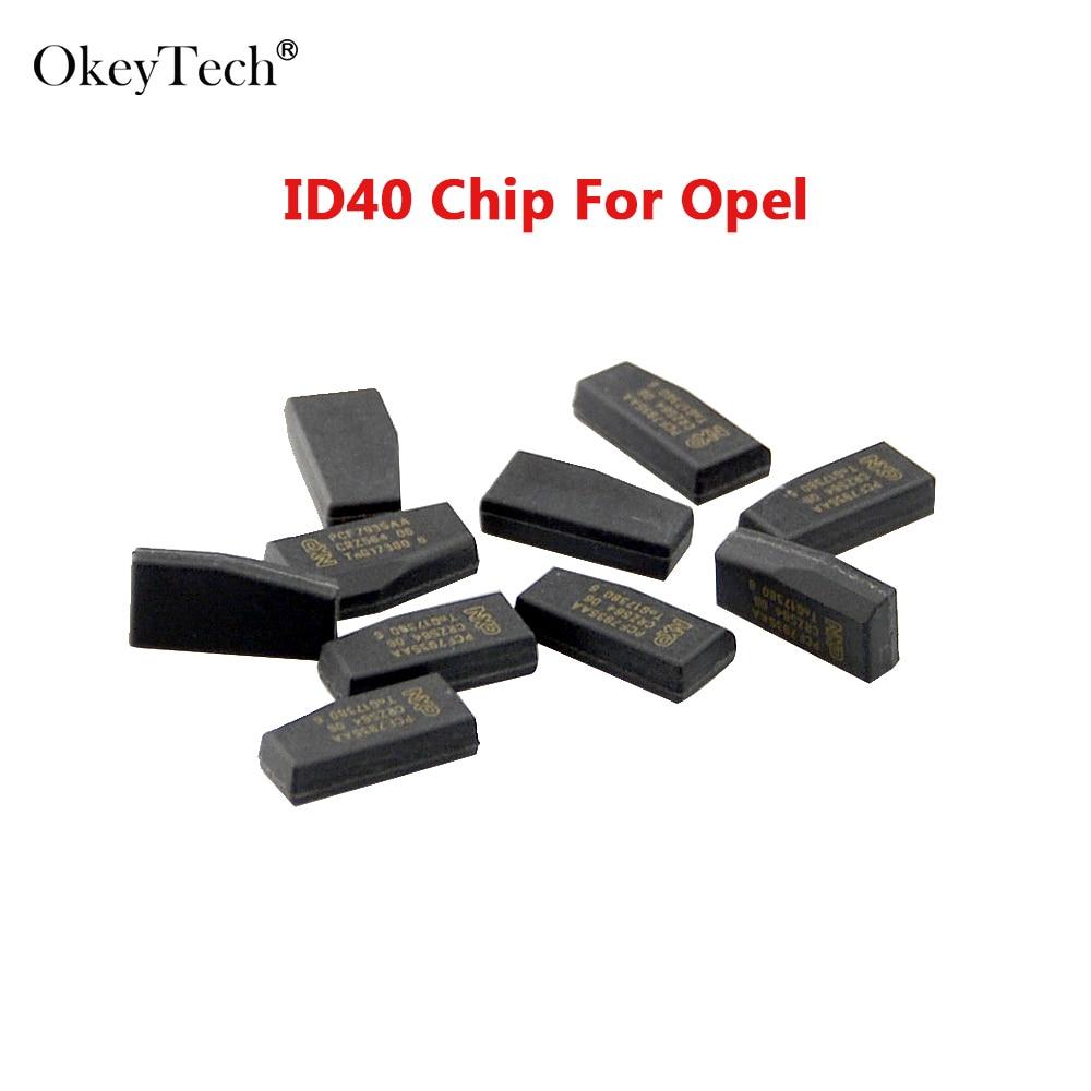5PCS//LOT Car Key Blank Transponder Chip ID40 for Vauxhall Opel Astra Vectra
