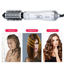 Hair Styler Brush 2 In1 Multifunctional Hair Straightener Curler Comb Hair Dryer Volumizer Rotating Hot Hair Brush Roller Styler loof jr 198 1 mini hair styler straightener pink