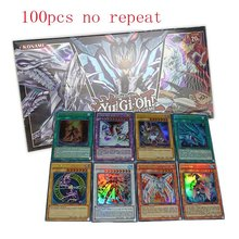 100pcs/set No Repeat Anime Japan Yu Gi Oh Game Card Carton Yugioh Cards Yu-Gi-Oh Collection For Fun With Toys