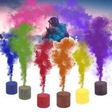 6 шт. красочные дымовые пирожные эффект шоу круглые бомбы сценический фотосъемка помощь вечерние студийные реквизиты для фотосессии туман дым бомба