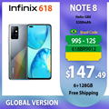 Смартфон Infinix Note8 глобальная версия 6 ГБ 128 ГБ 6,95 дюйма HD + дисплей аккумулятор 5200 мАч 18 Вт Быстрая зарядка мобильные телефоны Helico