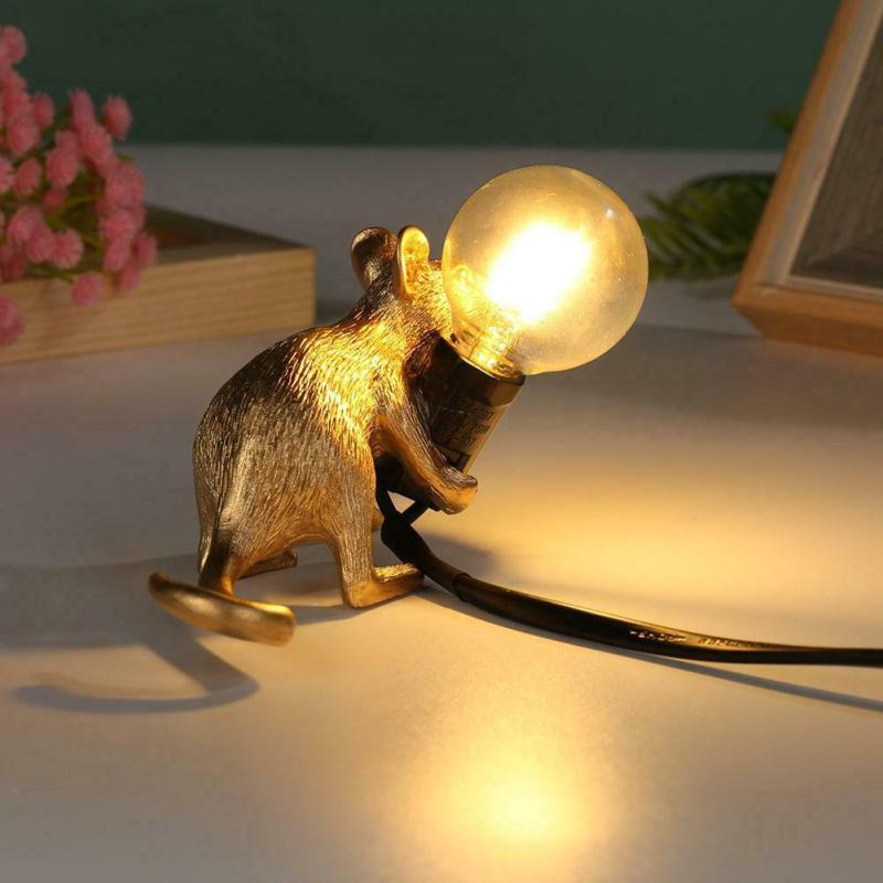 dourado bonito conduziu a lâmpada de mesa decoração da sua casa luzes