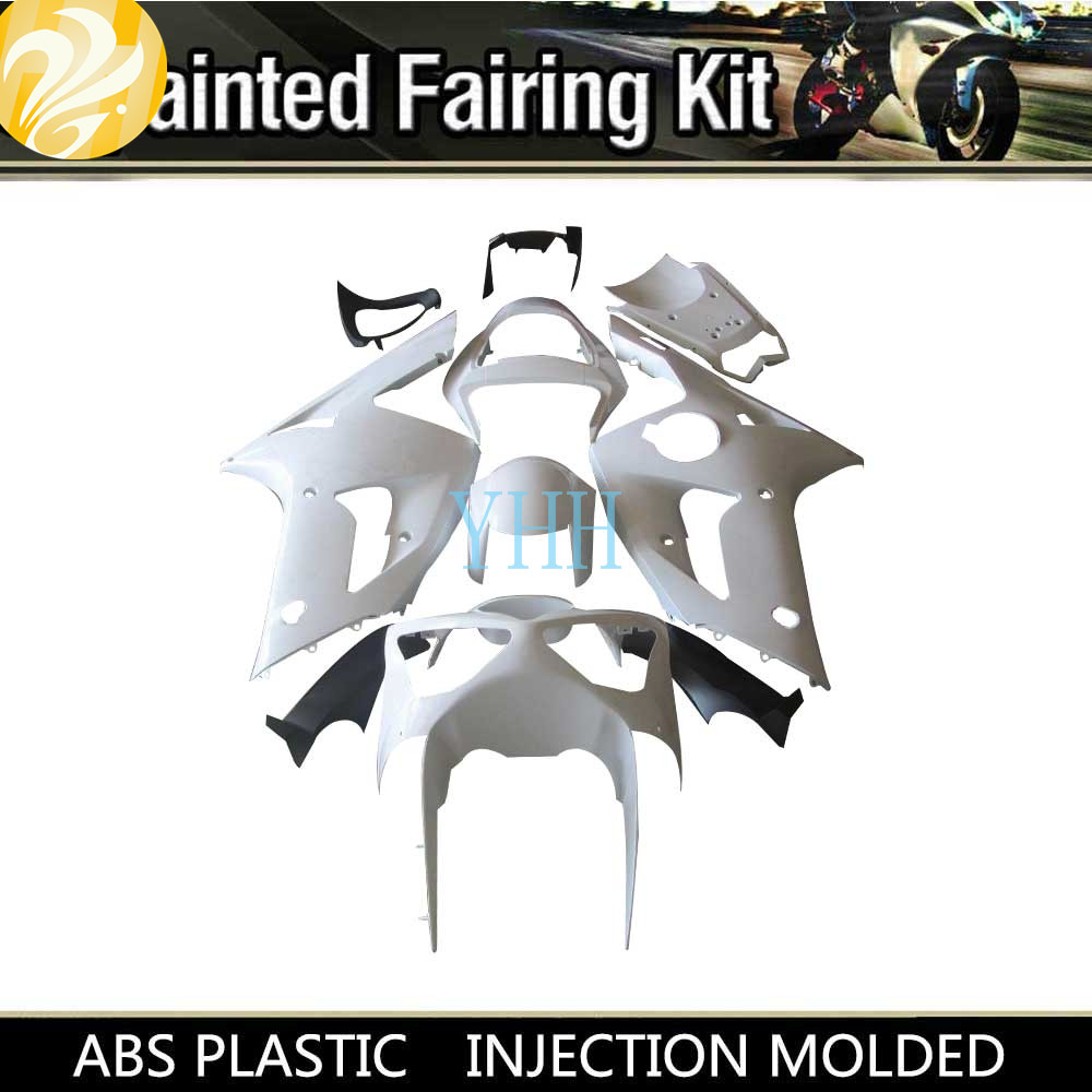 New Unpainted Plastic Raw ABS Injection Modled Motorcycle Bodywork Set Fairing Kit for KAWASAKI ZX6R ZX 6R <font><b>636</b></font> <font><b>2003</b></font> 2004 03-04 image