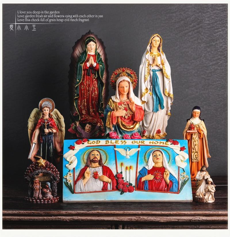 Permalink to Christian Catholic Icon Madonna Jesus Church Resin Gift Ornament Cross Decoration