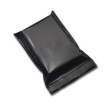 8x12cm 200pcs/lot Black Top Zip Lock Package Bag Heat Sealable Plastic Packaging Reclosable Water Proof Vacuum Food Pouch