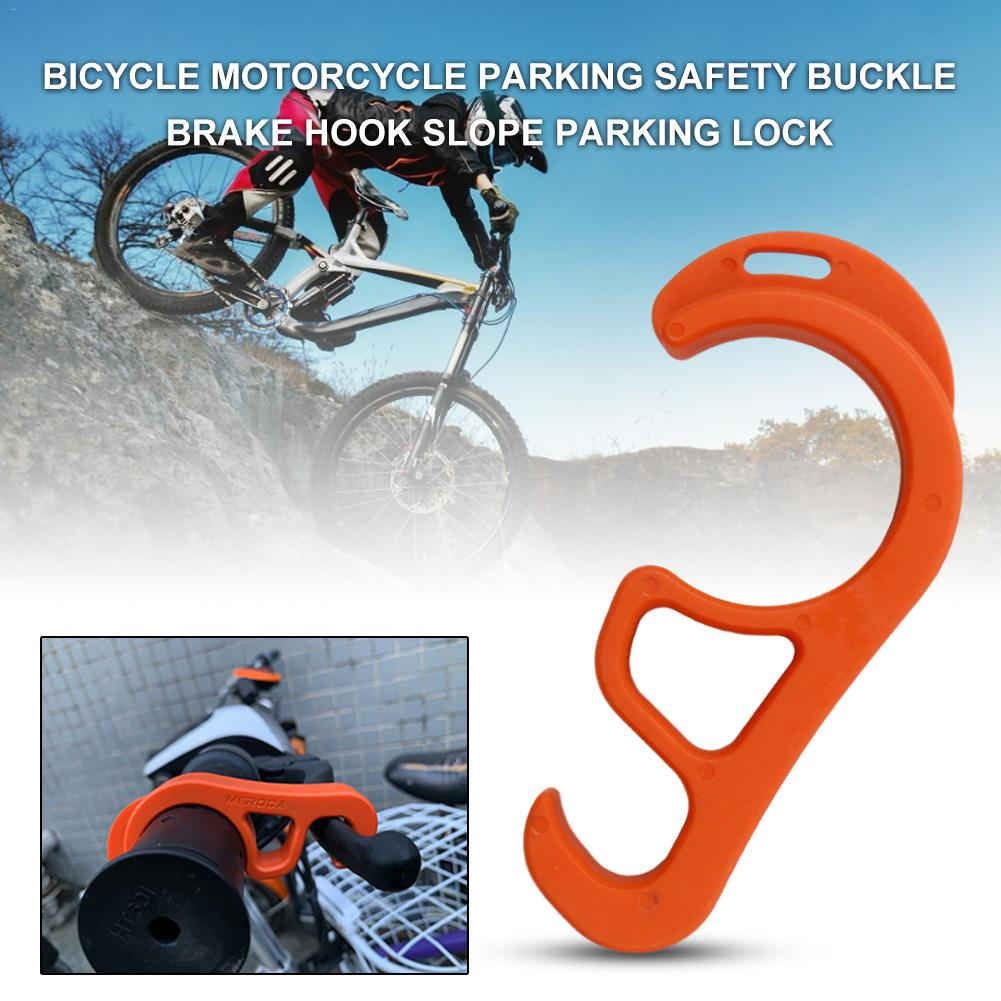 MEROCA Bicycle Buckle Brake Hook Parking Safety Lock Bicycle Slope Parking L DS