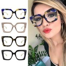 Jaspair surdimensionné oeil de chat ordinateur lunettes Anti lunettes à rayons bleus lumière bleue bloquant les lunettes optique jeu filtre lunettes