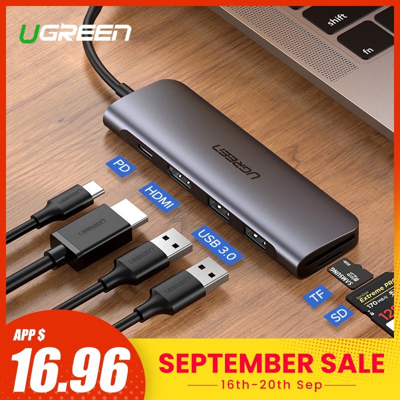 Ugreen USB C HUB Type C to Multi USB 3.0 HUB HDMI Adapter Dock for MacBook Pro Huawei P30/P20 USB-C 3.1 Splitter 3 Port USB HUB