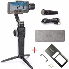 Zhiyun gładka 4 3-osiowy Gimbal Steadicam stabilizator dla iPhone X 8 Gopro Hero 5 SJCAM SJ7 Xiaomi Yi 4k action camera(China)