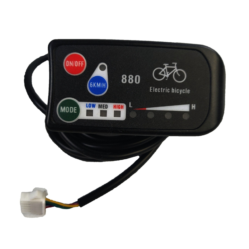 Electric Bicycle Display 24V 36V 48V Ebike Intelligent Control Panel Lcd Display LED880 Waterproof For KT Controller