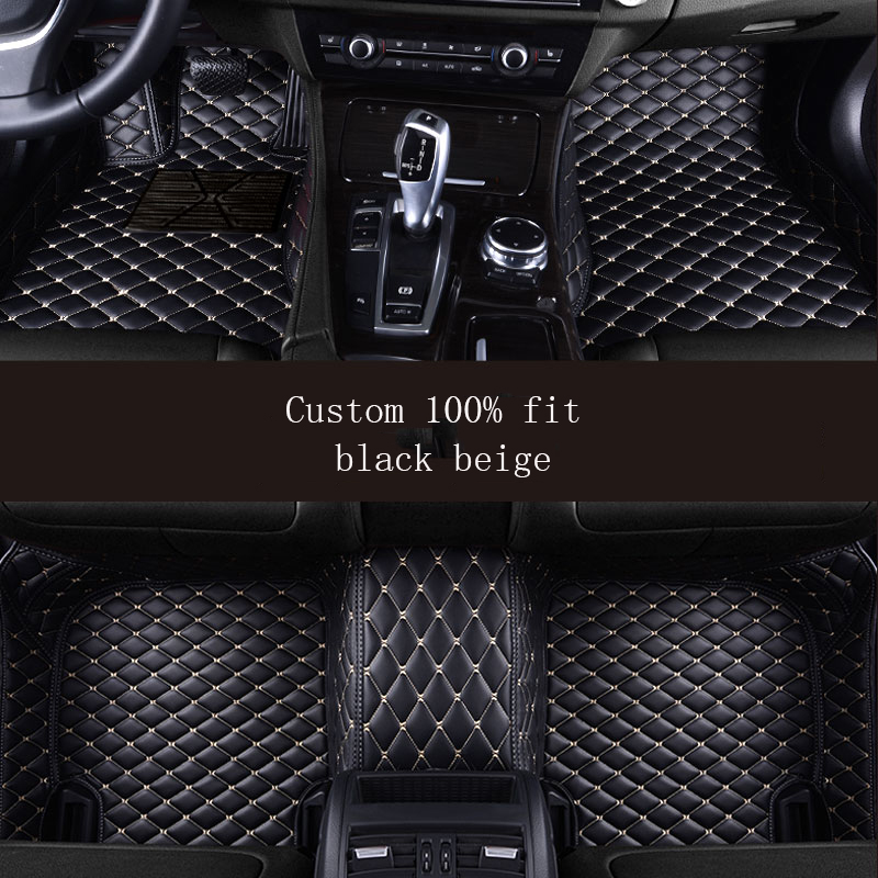 SEAT IBIZA COOL ALL YEARS UNIVERSAL CAR FLOOR MATS BLACK WITH WHITE TRIM