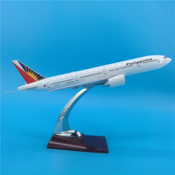 32CM Boeing B777 PHILIPPINES Airlines airways airplane model toys With base, without wheel diecast plastic alloy plane gifts