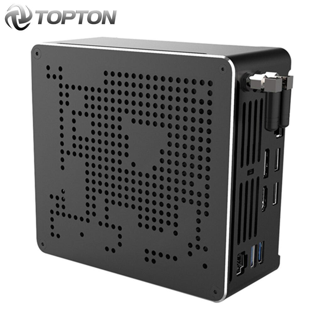 TOPTON 10-го поколения Nuc Intel i9 10980HK 10880H i7 10750H Мини ПК 2 LAN Win10 2 * DDR4 2 * NVME игровой настольный компьютер 4K DP HDMI2.0