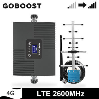 GOBOOST Amplifier LTE  2600 MHz Cell Phone Signal Booster Band 7 Network Mobile Repeater 4g Antenna With 10M Coaxial Cable