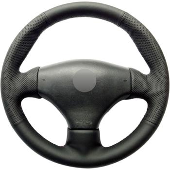 Czarny PU Faux Leather DIY ręcznie szyte osłona na kierownicę do samochodu Peugeot 206 1998-2005 206 SW 2003-2005 206 CC 2004 2005 tanie i dobre opinie CN (pochodzenie) Kierownice i piasty kierownicy 0 15kg Protect your steering wheel 16cm for Peugeot 206 1998-2005 206 SW 2003-2005 206 CC 2004 2005