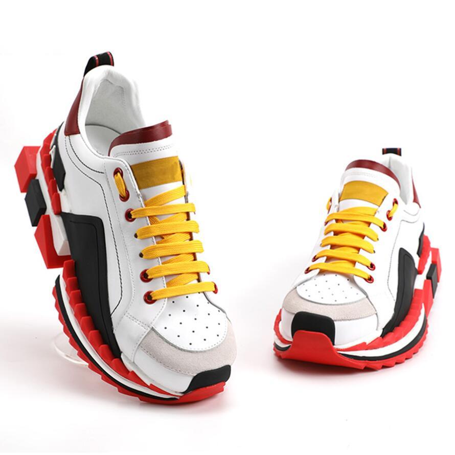 Décontracté chaussures plates pour homme fond épais en plein air marche chaussures plates pour hommes Super King marque de luxe en cuir naturel espadrilles décontractées