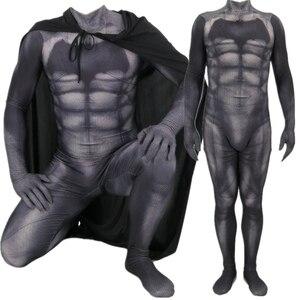 Image 1 - Batman v Superman: Dawn of Justice Bruce Wayne Cosplay Costume Zentai Superhero Bodysuit Suit Jumpsuits Cloak