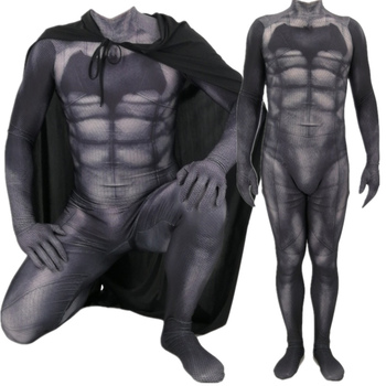 цена Batman v Superman: Dawn of Justice Bruce Wayne Cosplay Costume Zentai Superhero Bodysuit Suit Jumpsuits Cloak онлайн в 2017 году