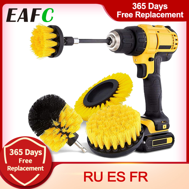 5Pcs 3Pcs Power Scrubber Brush Electric Drill Brush Power Scrubber Bathroom Surface Tub Shower Tile Cleaning Tools