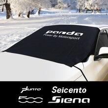 Parabrisas de coche nieve bloque de hielo cubierta tipo parasol para Fiat 500 ARGO Bravo FREEMONT Idea LINEA Panda PUNTO Seicento Siena Accesorios