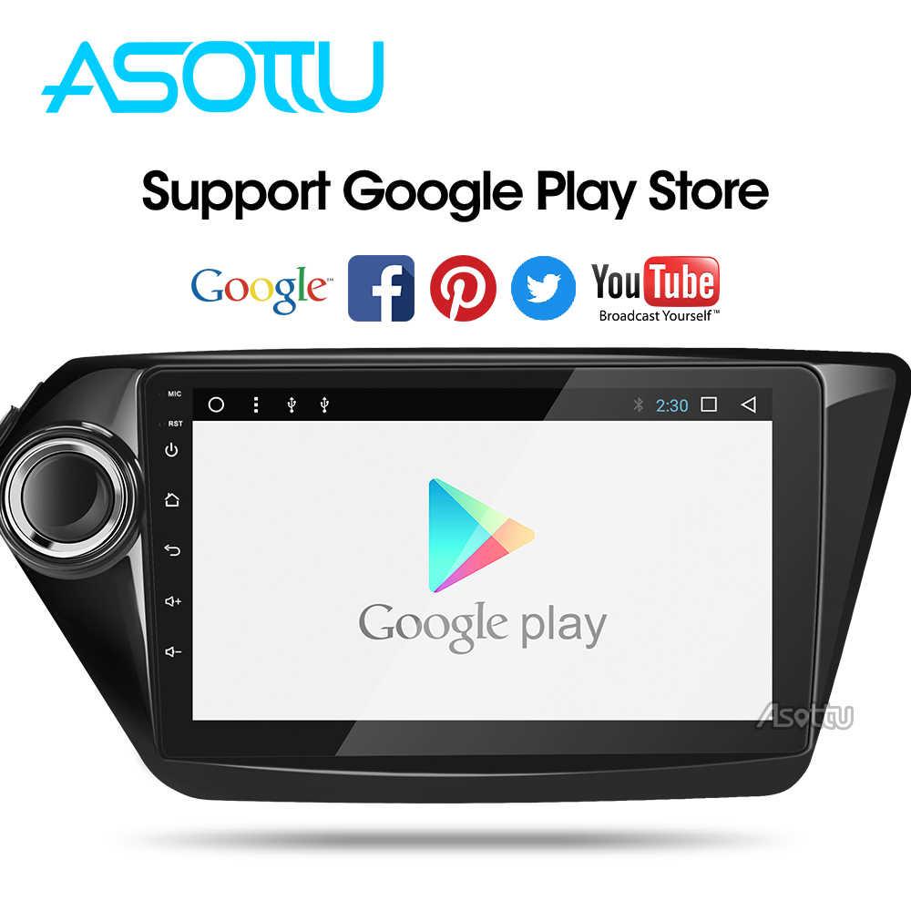 Asottu CK29060 IPS android 9,0 dvd del coche de navegación gps para Kia k2 RIO 2010, 2011, 2012, 2013, 2014, 2015 radio Estéreo dvd gps