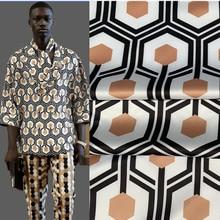145cm*100cm new designer fabric 6-sided pattern high-end digital printing sewing skirt pants shirt custom fabric polyester fabri