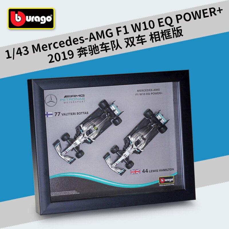 Bburago 1: 1 F1 2019 Benz W10 с рамкой подписанное издание Формула 1 гоночная модель автомобиля из сплава Коллекционная игрушка в подарок|Наземный транспорт| | АлиЭкспресс