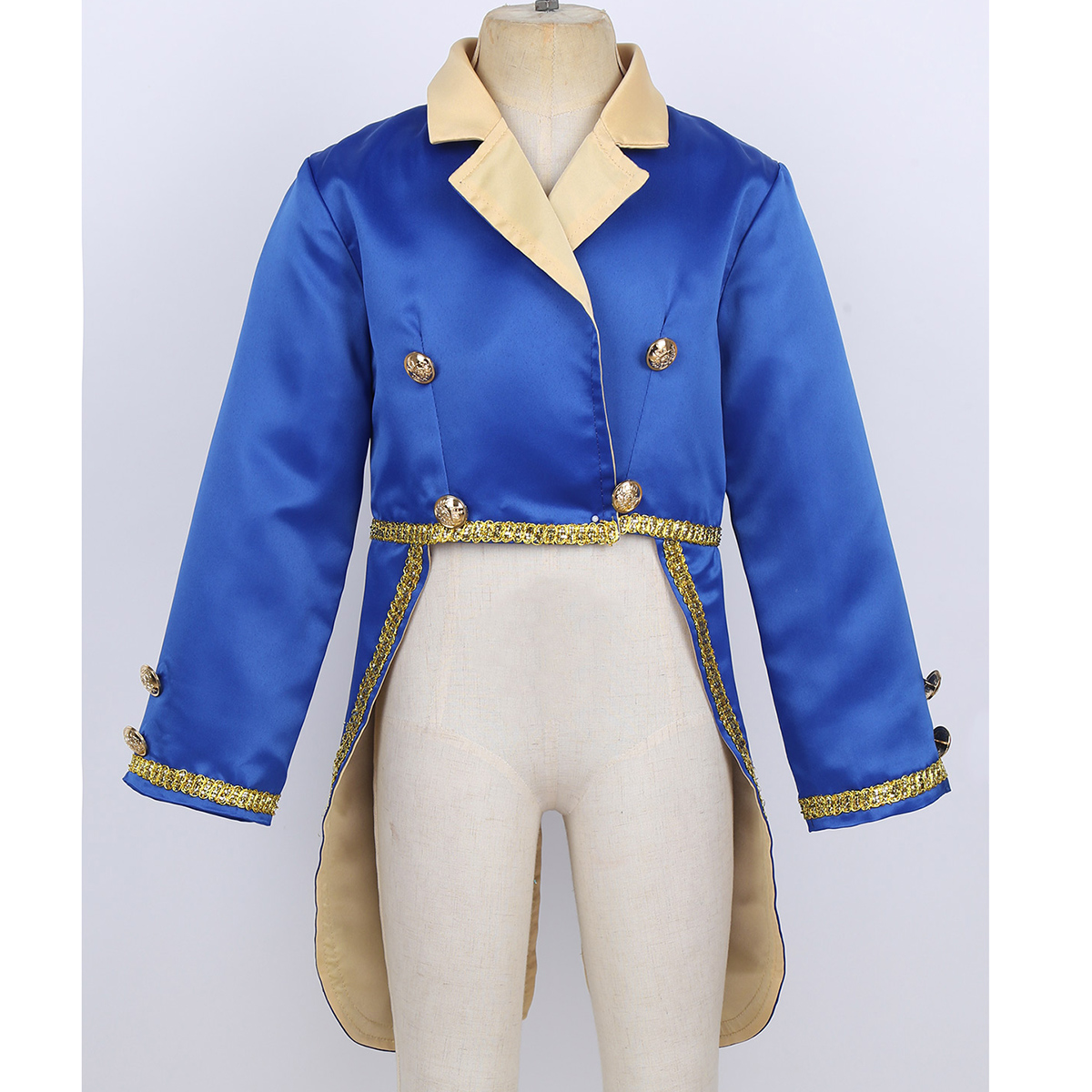 ChicTry Baby Boys Prince Costume Turn-Down Collar Tuxedo Jacket Kids Toddlers Halloween Cosplay Birthday Theme Party Tailcoat