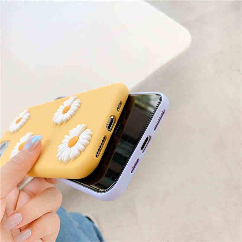 3D かわいいデイジー花ソフトケース xiaomi redmi 注 9 4s 注 8 プロ 8 t 注 7 5A 6A 7A 8A 4A s2 K20 K30 tpu 電話カバーケース