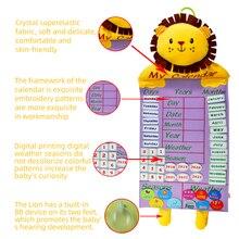 Bambino Precoce Educazione Calendario Bambola (Tempo, Data, Numero, ecc) 2020 NUOVI bambini di apprendimento aiuti bordo della bambola della peluche