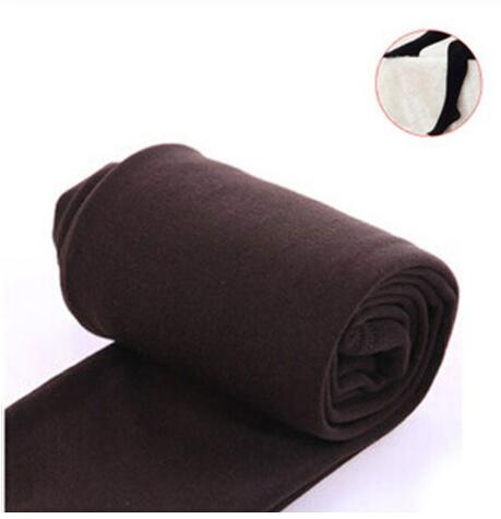 2020 Autumn winter woman thick warm leggings candy color brushed charcoal Stretch Fleece Pants Trample Feet Leggings 13