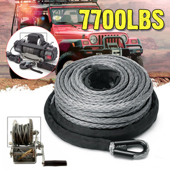 Hot Sale 15m Winch Rope ATV UTV High Strength Synthetic Winch Line Cable Rope Tow Cord With Sheath Gray