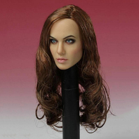 1/6 Scale T 10 Women Actress Angelina Jolie Head Carving Female Long Hair Model for 12 Action Figure Body Doll Toys